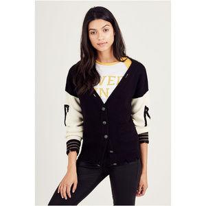 True Religion Women's Distressed Cardigan Sweater